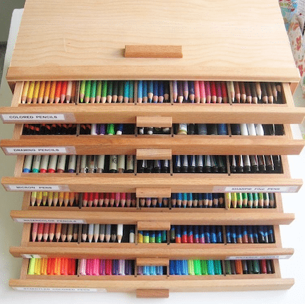 Inspirational Coloring Book Storage