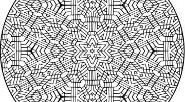 Advanced Mandala Coloring Pages