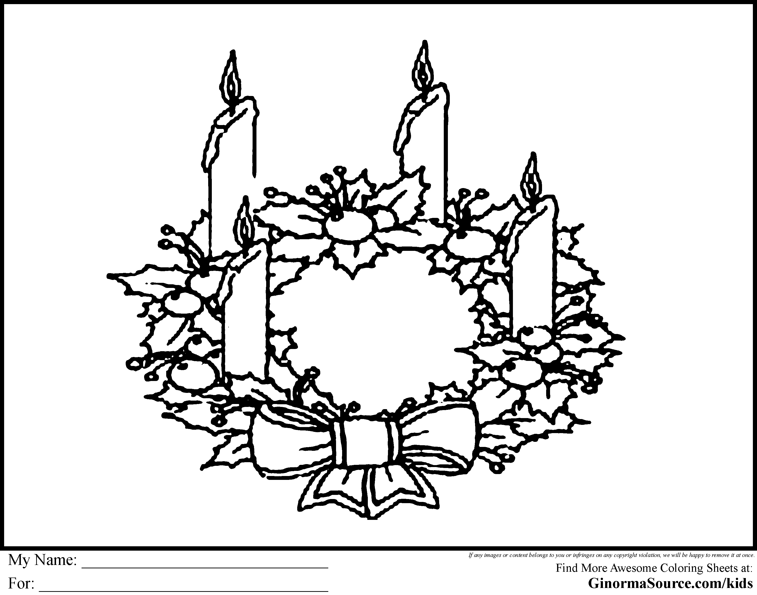 Advent Wreath Coloring Page Best Pages Adresebitkisel Com At