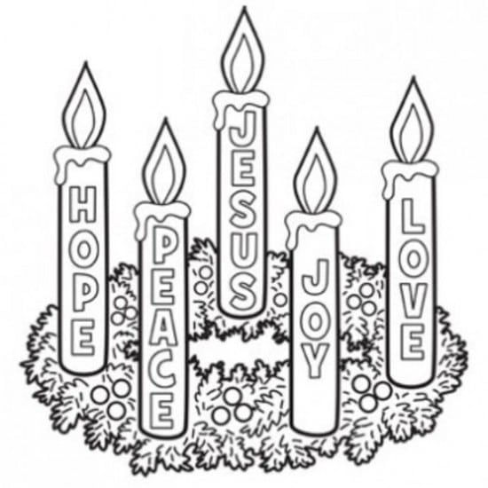 Advent Wreath Coloring Page Free Printable Pages And