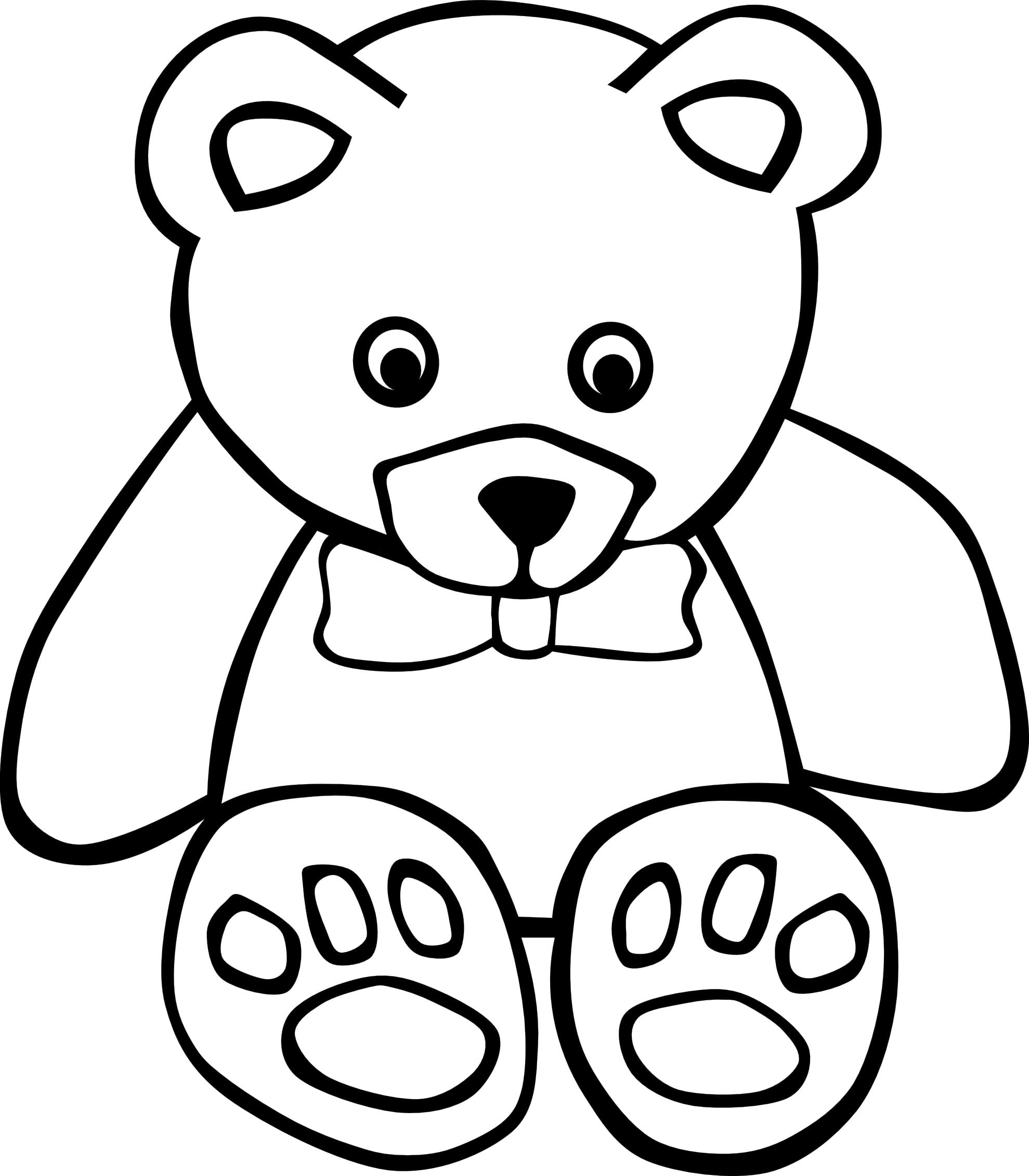 Alluring Free Printable Teddy Bear Coloring Pages Colouring In