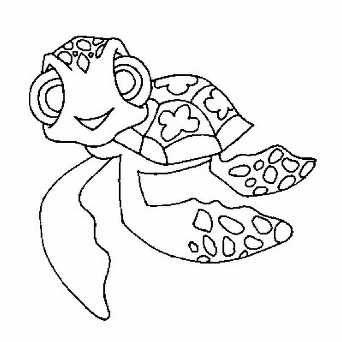 Amazing Sea Turtle Coloring Sheet Crush And Sq  1085