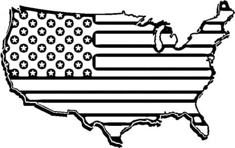 American Coloring Pages  8100