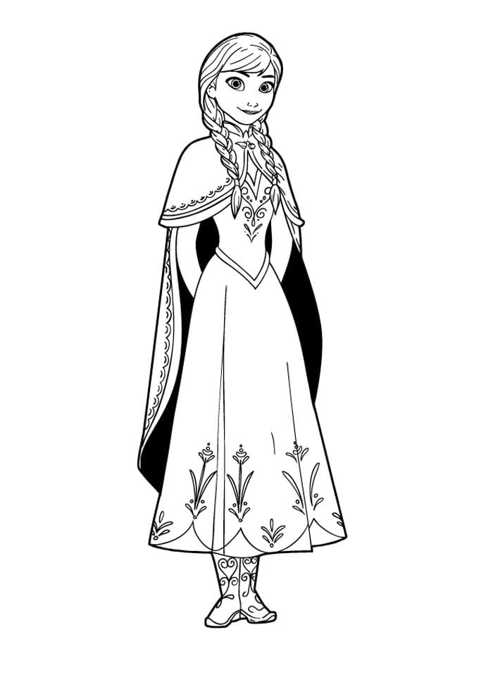 Anna Coloring Pages Anna Coloring Pages Coloring Page