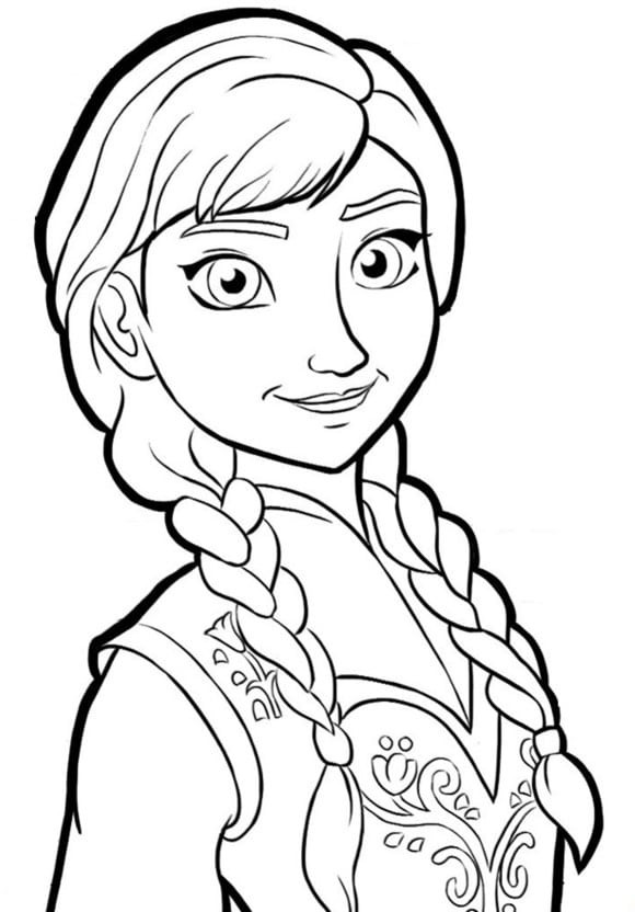 Anna Coloring Pages Princess Anna Frozen Coloring Pages Princess