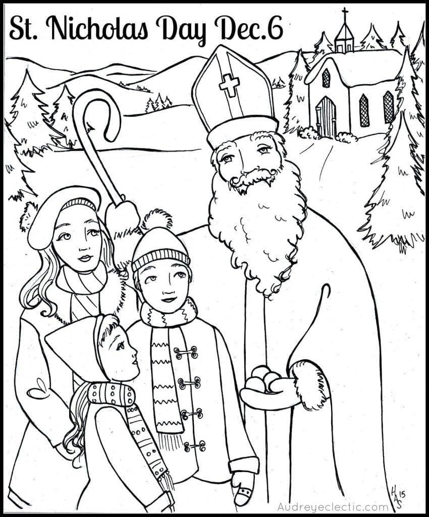 St Nicholas Coloring Page  10982