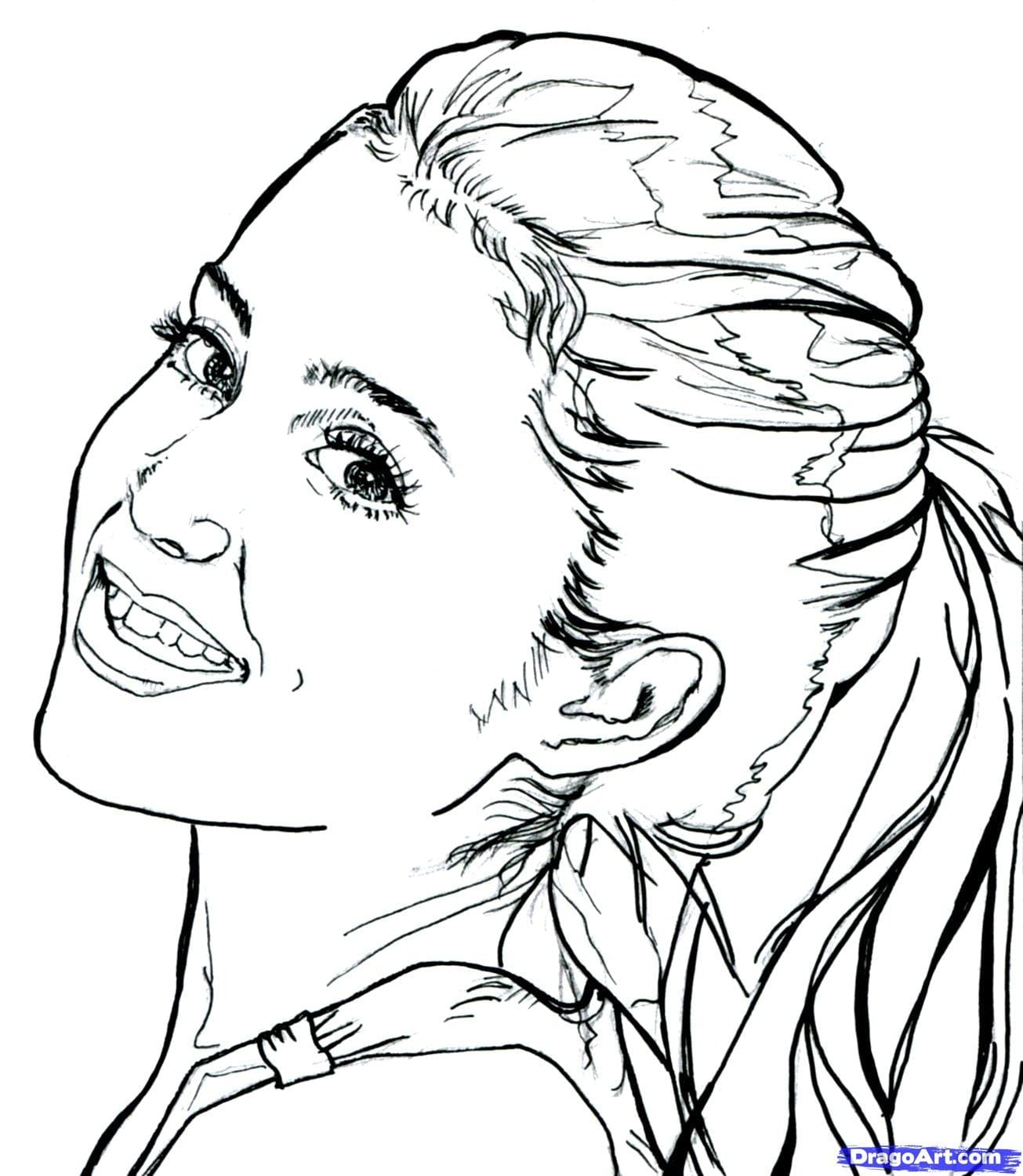 Cher Lloyd Celebrity Coloring Pages Printable Inside