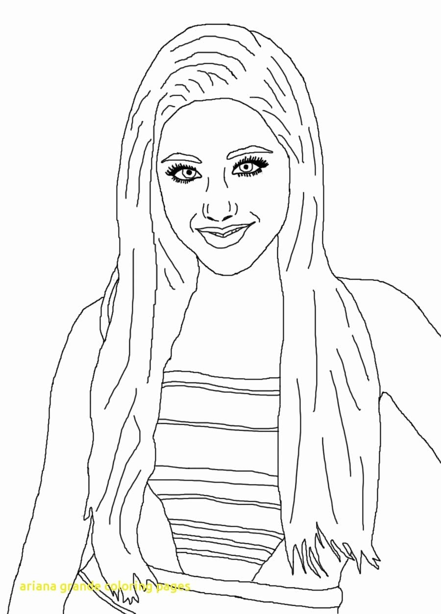 Ariana Grande Coloring Pages With Ariana Grande Coloring Pages
