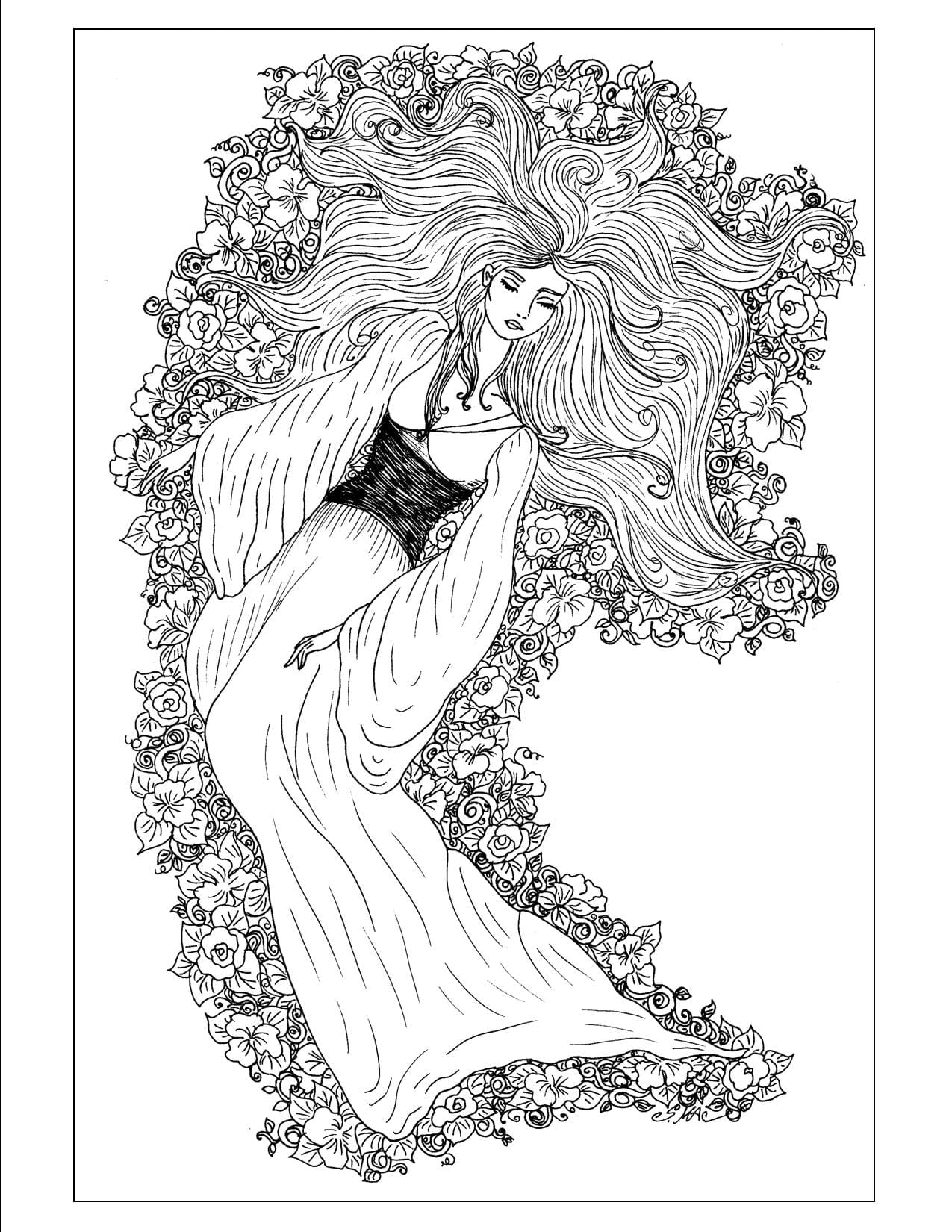 Art Nouveau 4 Coloring Pages