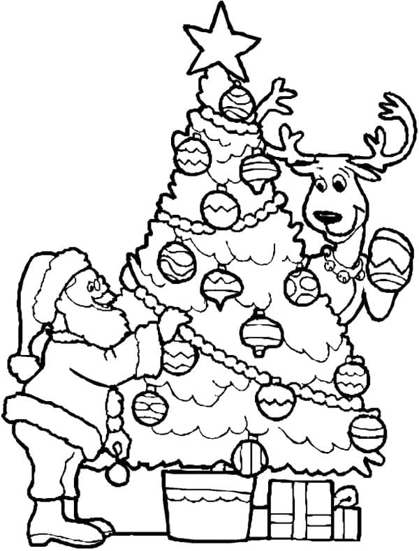 Artistic Xmas Coloring Pages 30925 Santa