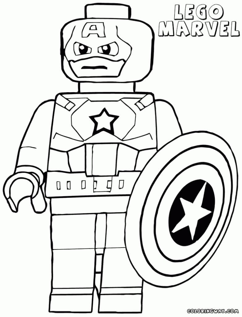 Avengers Lego Coloring Pages 12  9391
