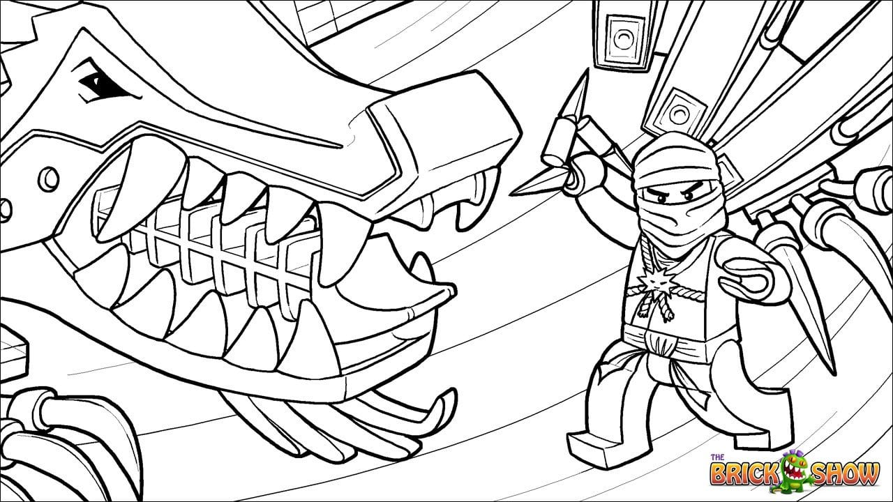 Awesome Has Lego Ninjago Coloring Pages On With Hd Resolution