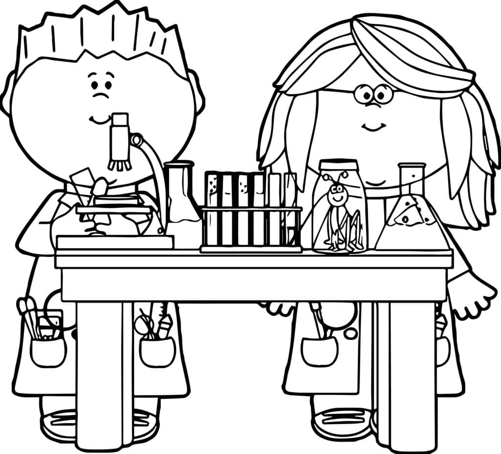 Az Coloring Pages Chemistry Az Science In