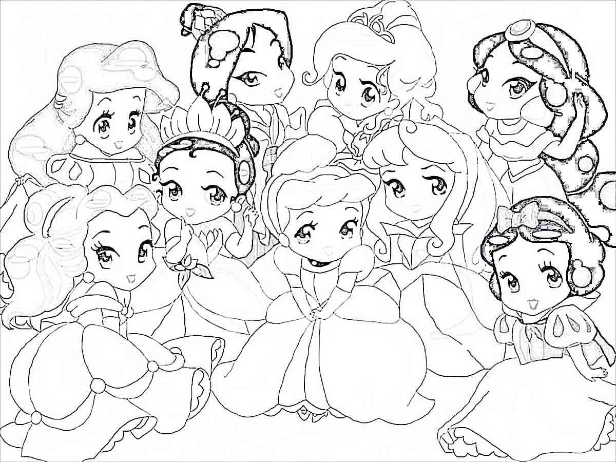 Ba Disney Princess Characters Coloring Pages Wwwxcdj Disney