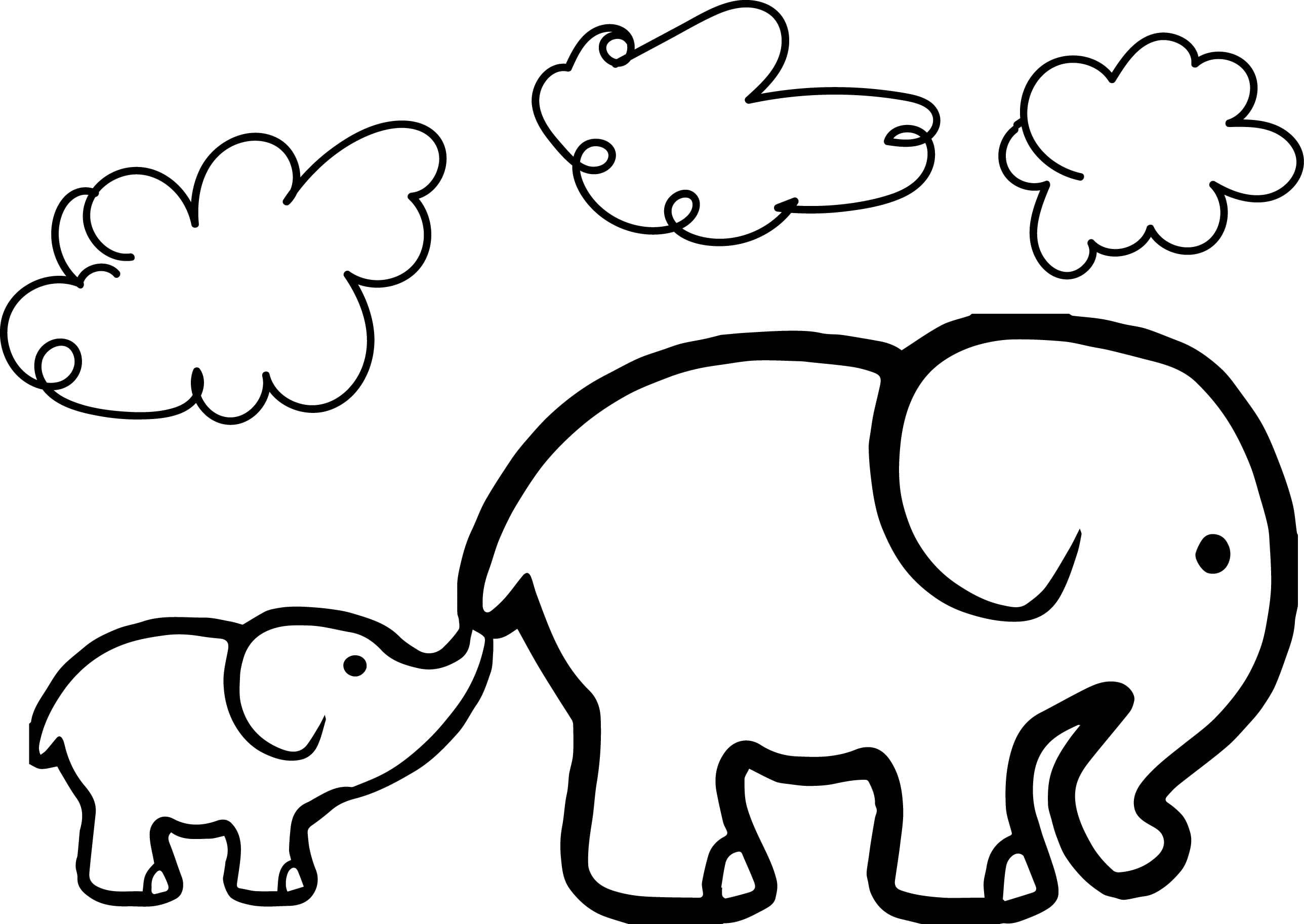 Baby Elephant Coloring Pages Qqa Me At Page