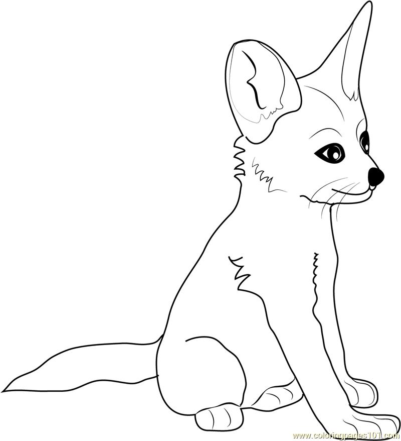 Baby Fox Coloring Pages Fox Coloring Pages Free Download Baby Fox