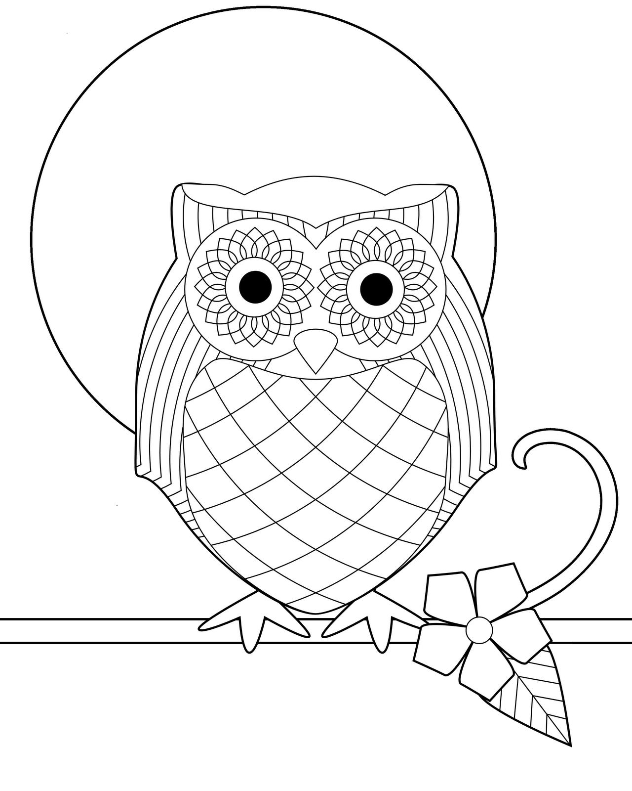 In Owl Coloring Book Pages