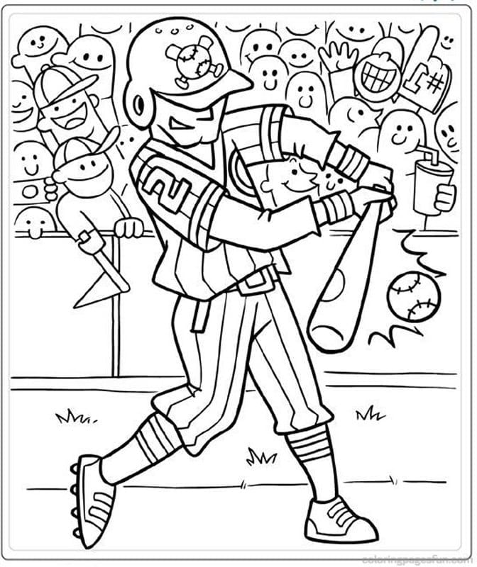 Baseball Coloring Pages 7  1872