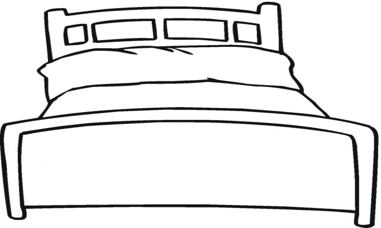 Bed Coloring Page Childlife Me Inside