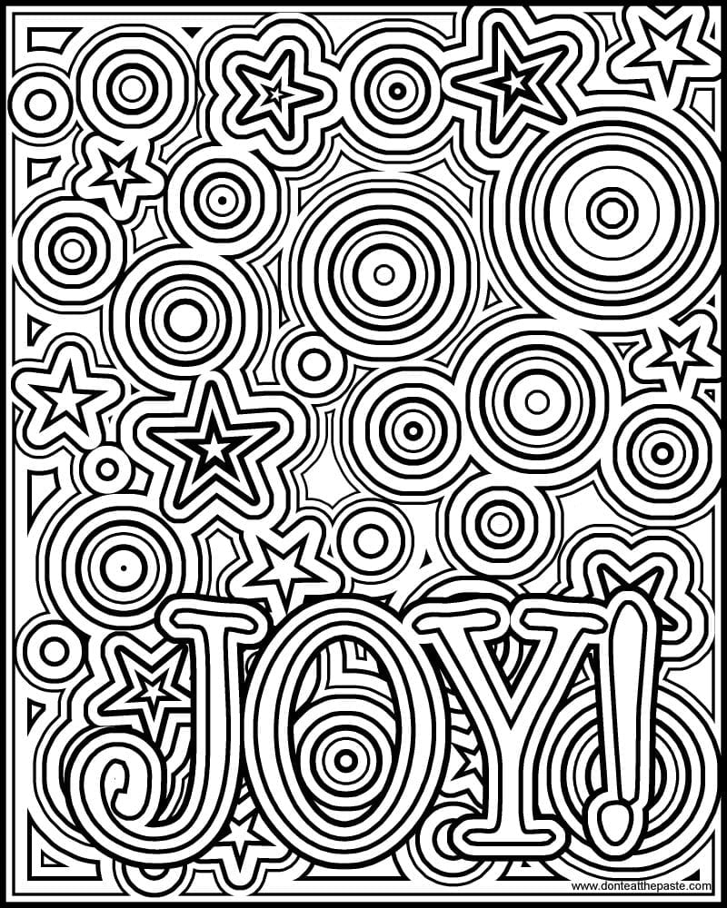 Best Don Ut Eat The Paste Joy Coloring Page Picture For Printables