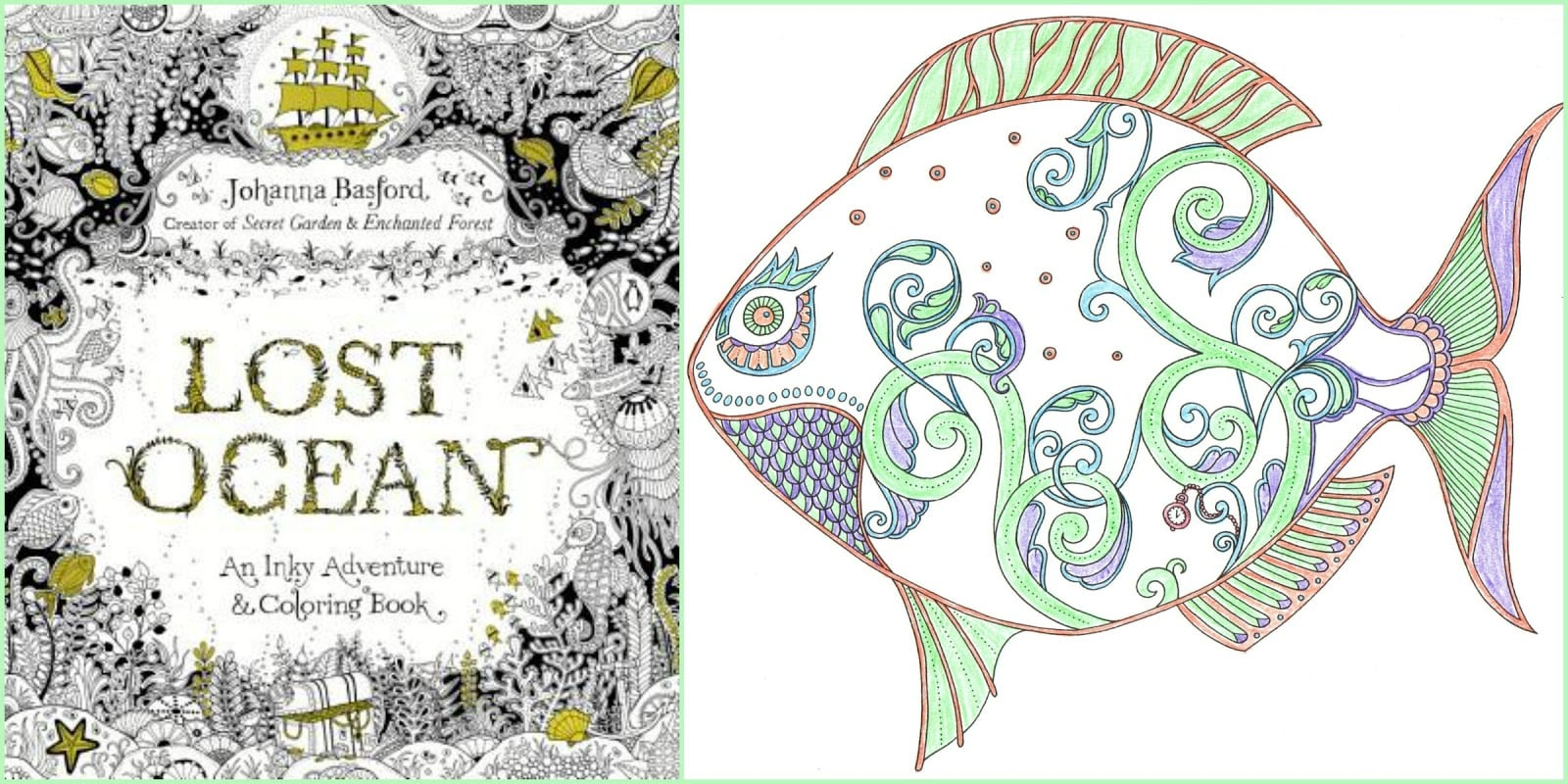 Ocean Coloring Book Books Lost Finished Pages Amazon