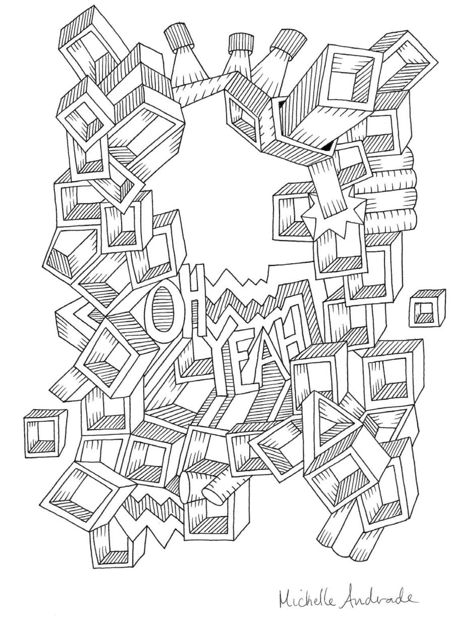 Between The Lines Spectacular Artist Coloring Book