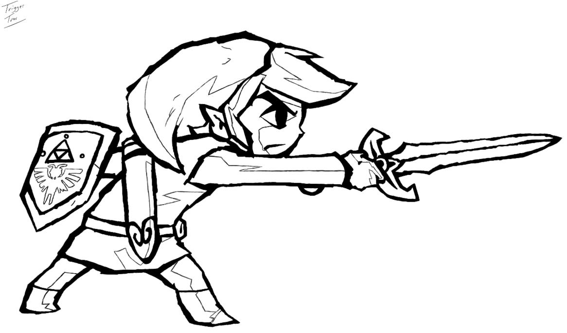 Link Zelda Coloring Pages