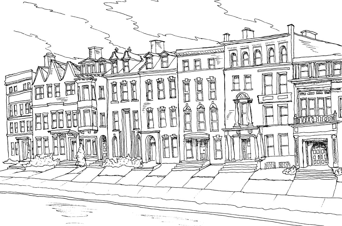 Centerfold  Buffalo Architecture Coloring Book