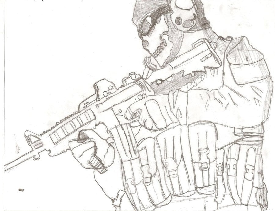 Call Of Duty Drawing At Getdrawings Com