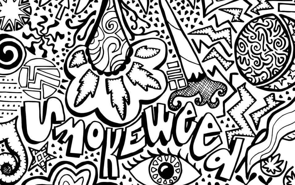 Cannabis Coloring Book Pages Fresh Stoner Coloring Pages