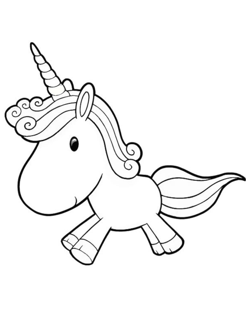 Cartoon Unicorn Coloring Page Coloring Book Coloring Page Unicorn
