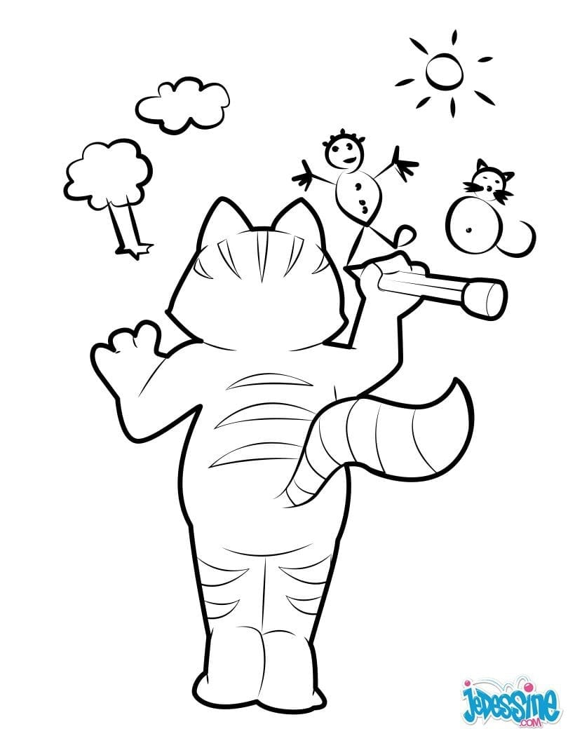Cat Picasso Coloring Pages