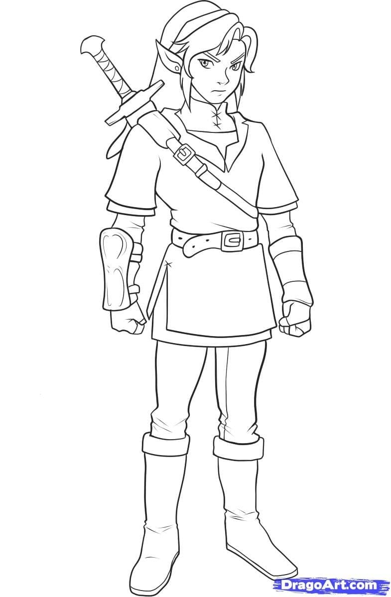 Step 11  How To Draw Link From Zelda