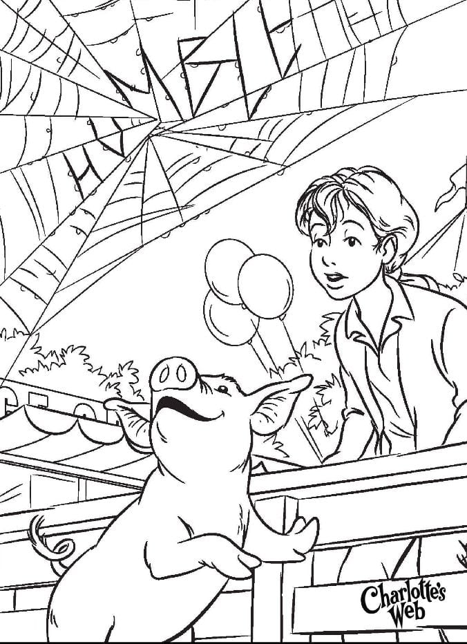 Charlotte S Web Coloring Pages 8