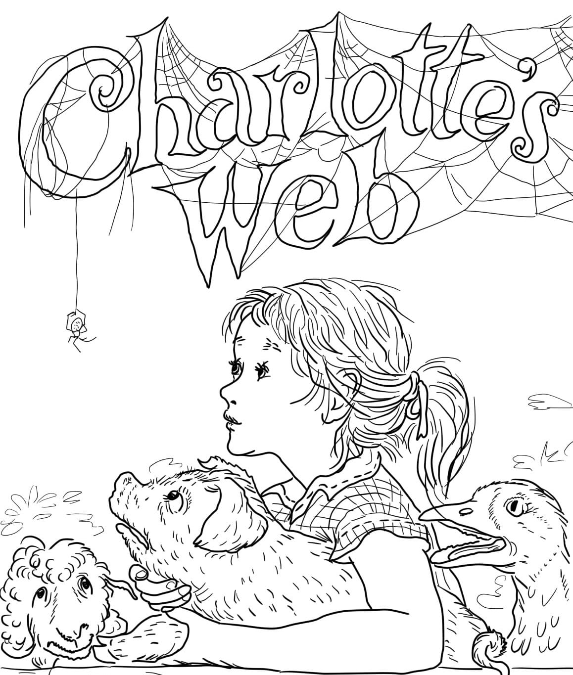 Charlotte S Web Coloring Pages To Print Page For Kids With