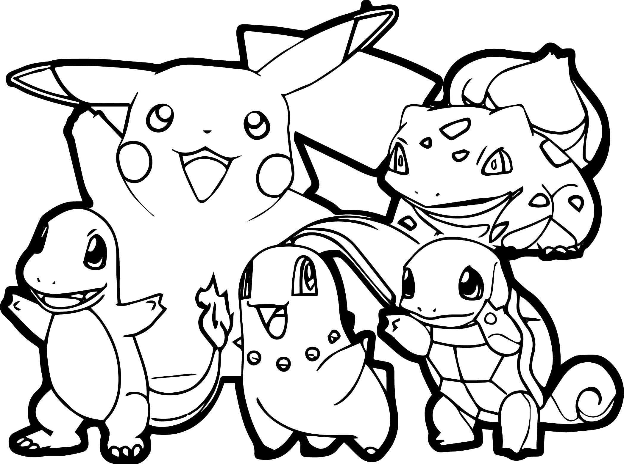 Impressive Ideas Coloring Page Pokemon Pokemon Coloring Pages Free