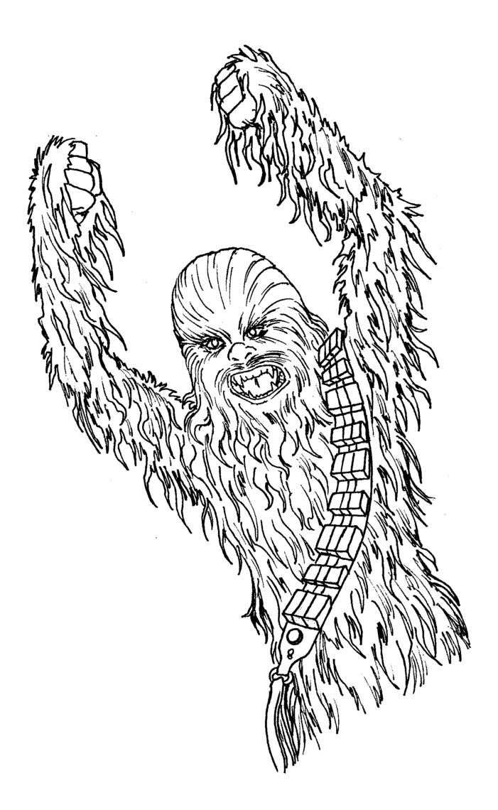 Chewbacca Coloring Pages Coloringsuite Com Inside