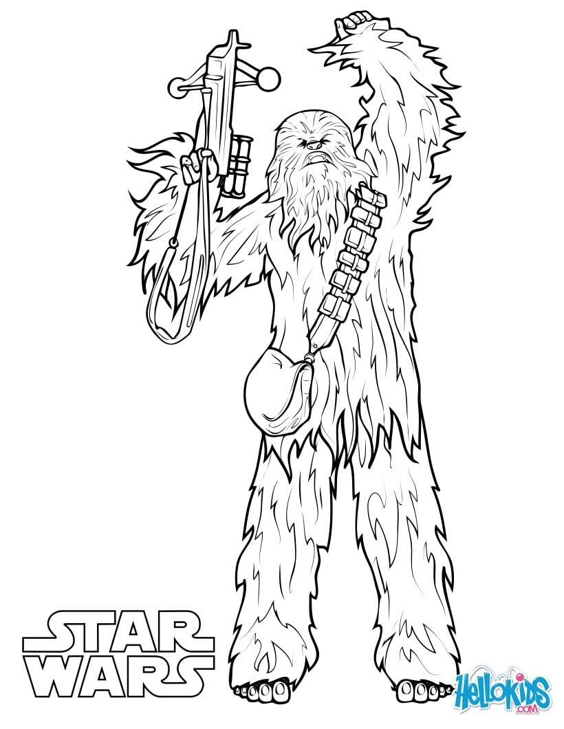 Chewbacca Coloring Pages Hellokids Com And