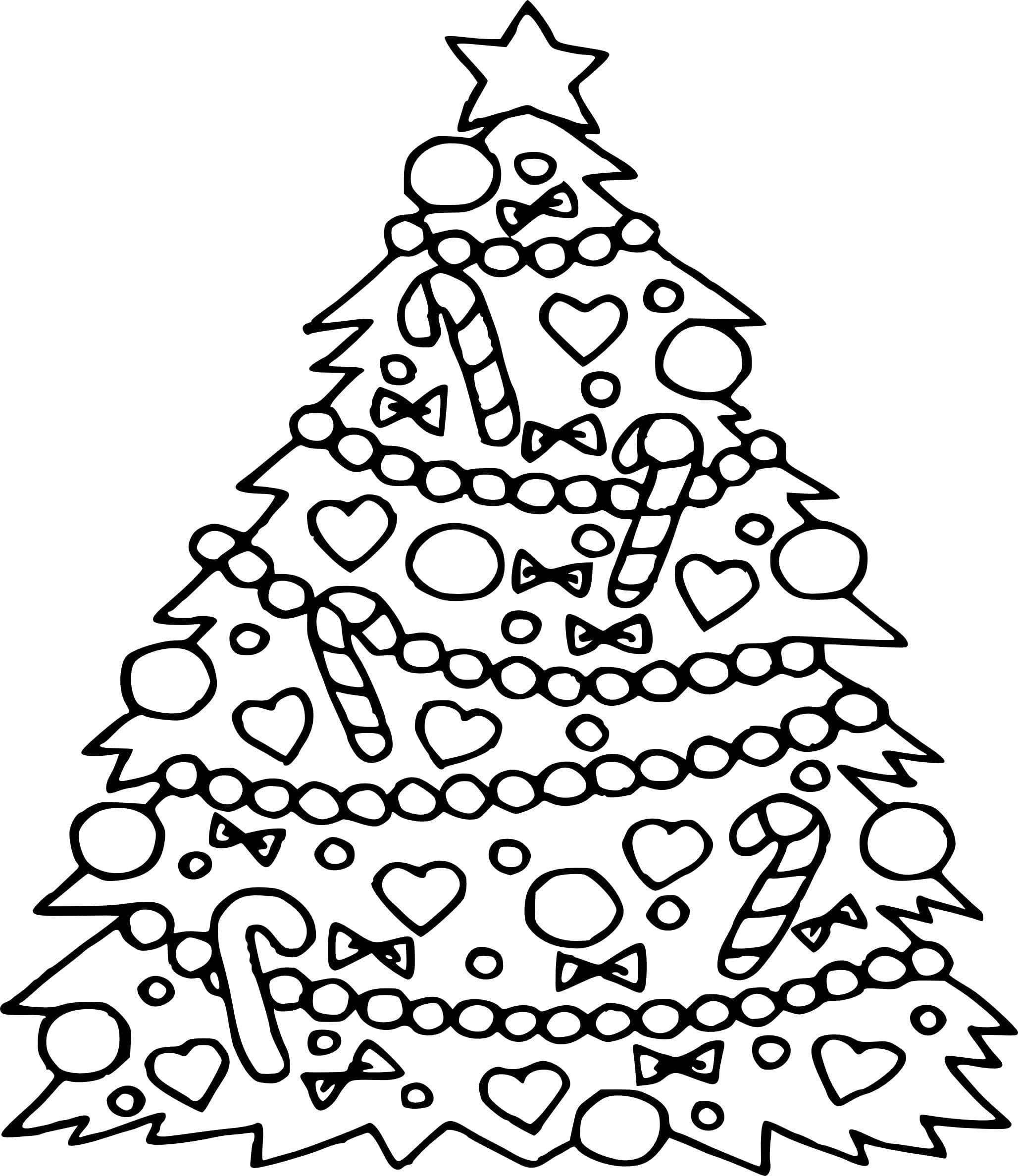 Christmas Tree Coloring Page New Pages Inside 1