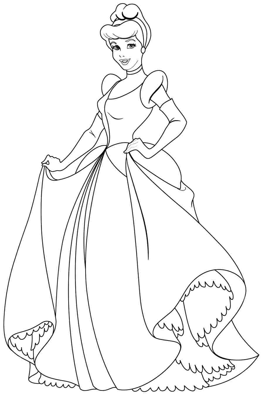 Cinderella Coloring Page For Kids Free Pages 63 On Book Cinderella