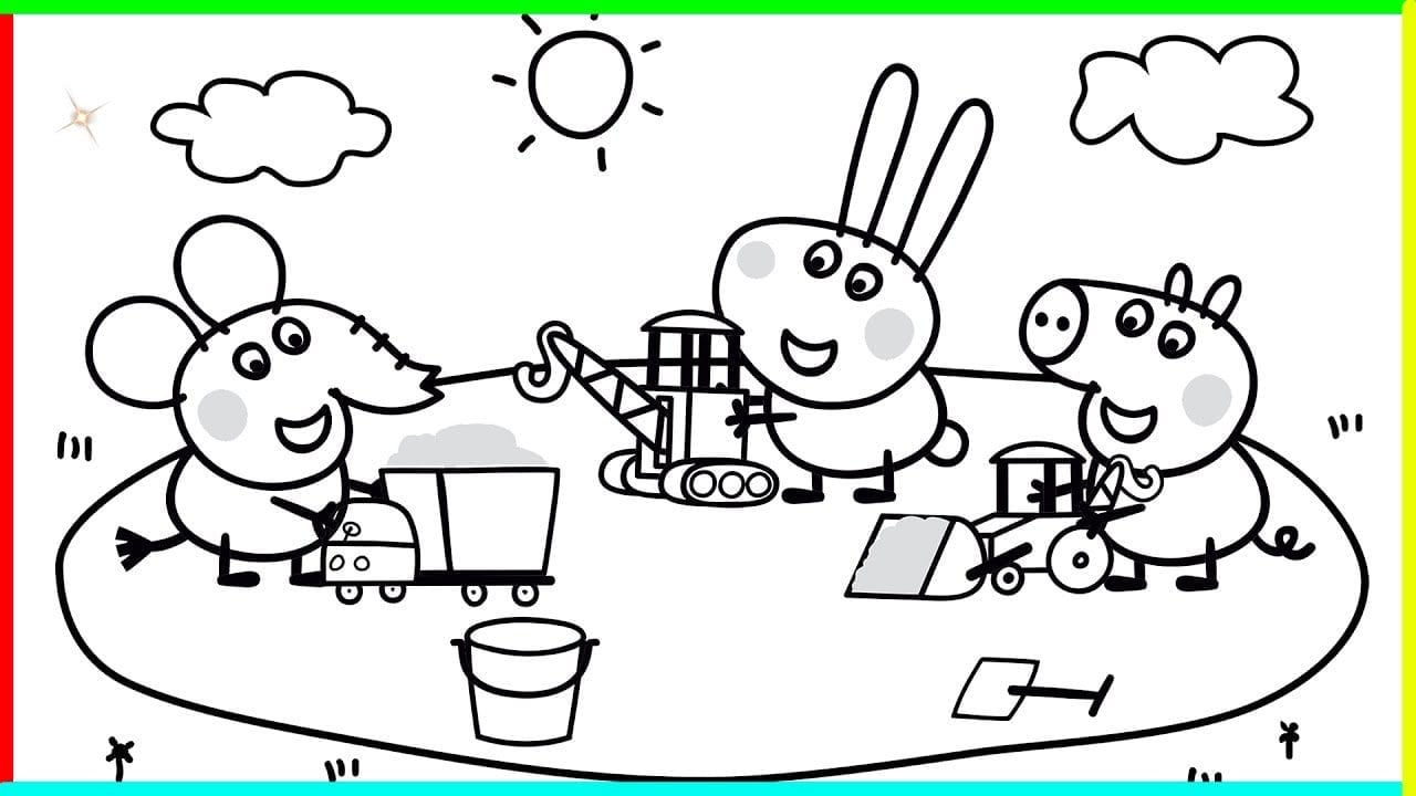 Clever Design Ideas Peppa Pig Colouring In Pages