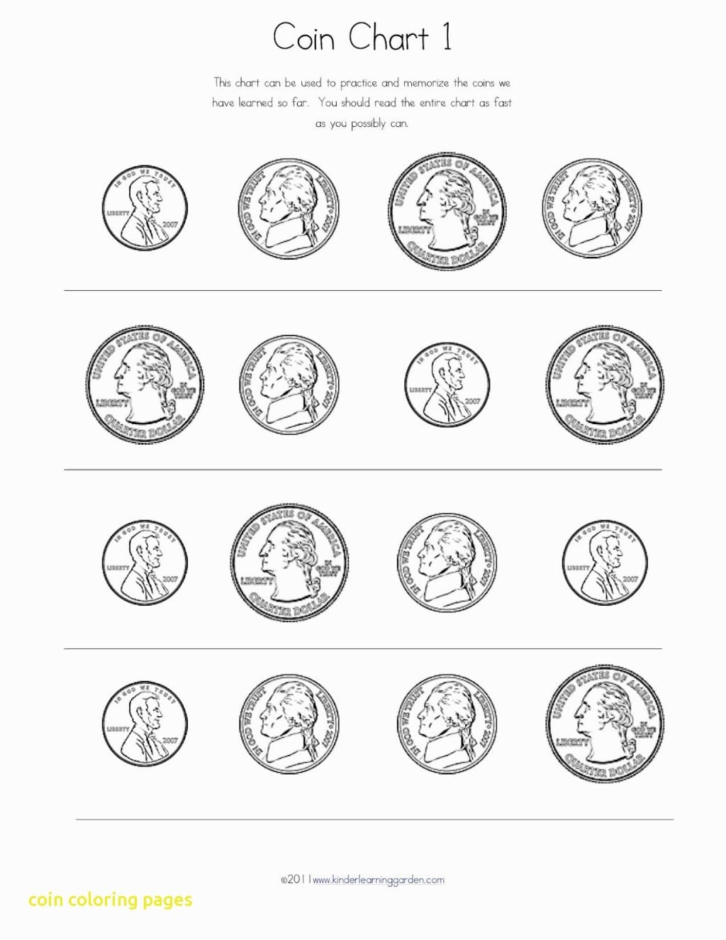 Coin Coloring Page 5 On Pages For With