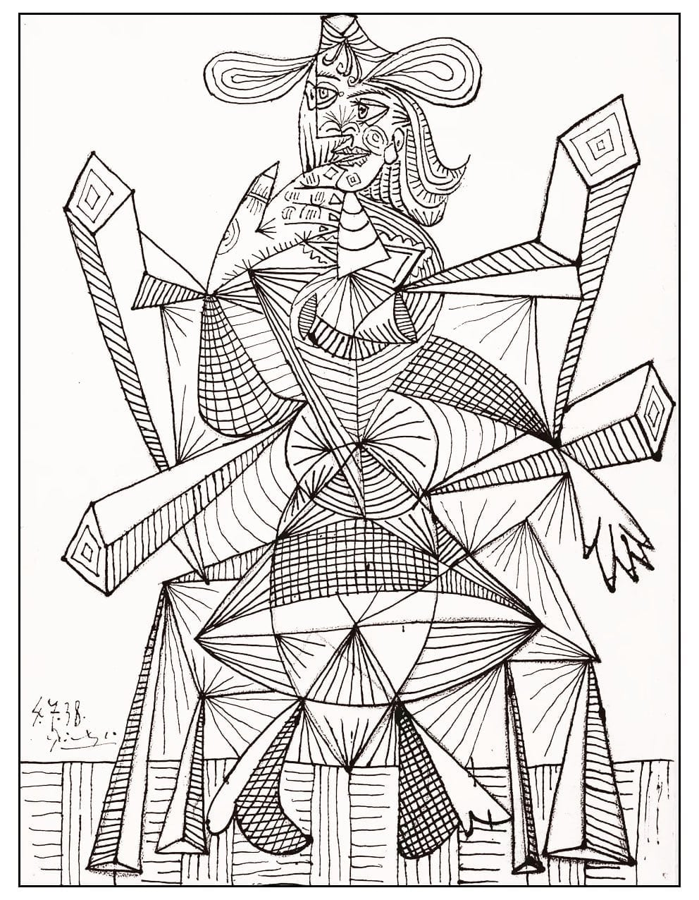 Drawing By Picasso 1938