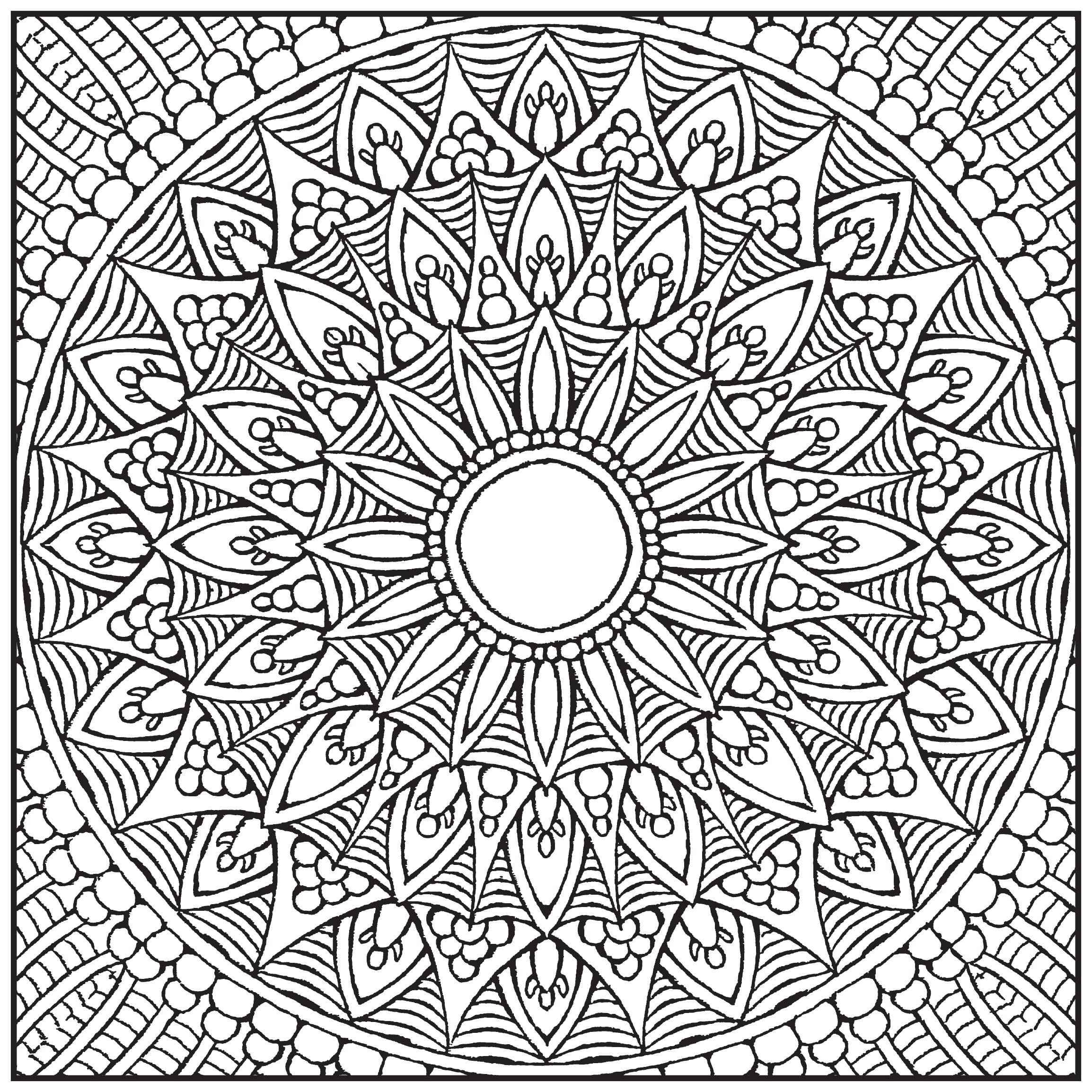 Amazon Com Mandalas Adult Coloring Book With Bonus Relaxation