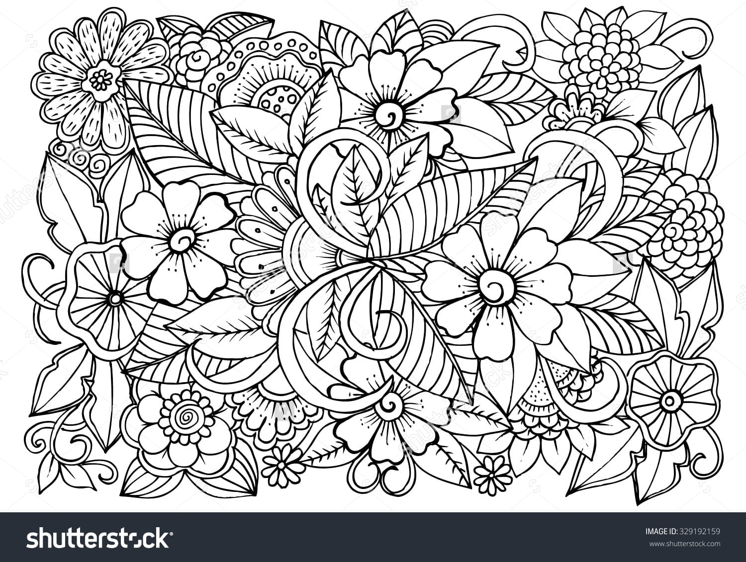 Flowers Coloring Flowers Great Coloring Book Flowers