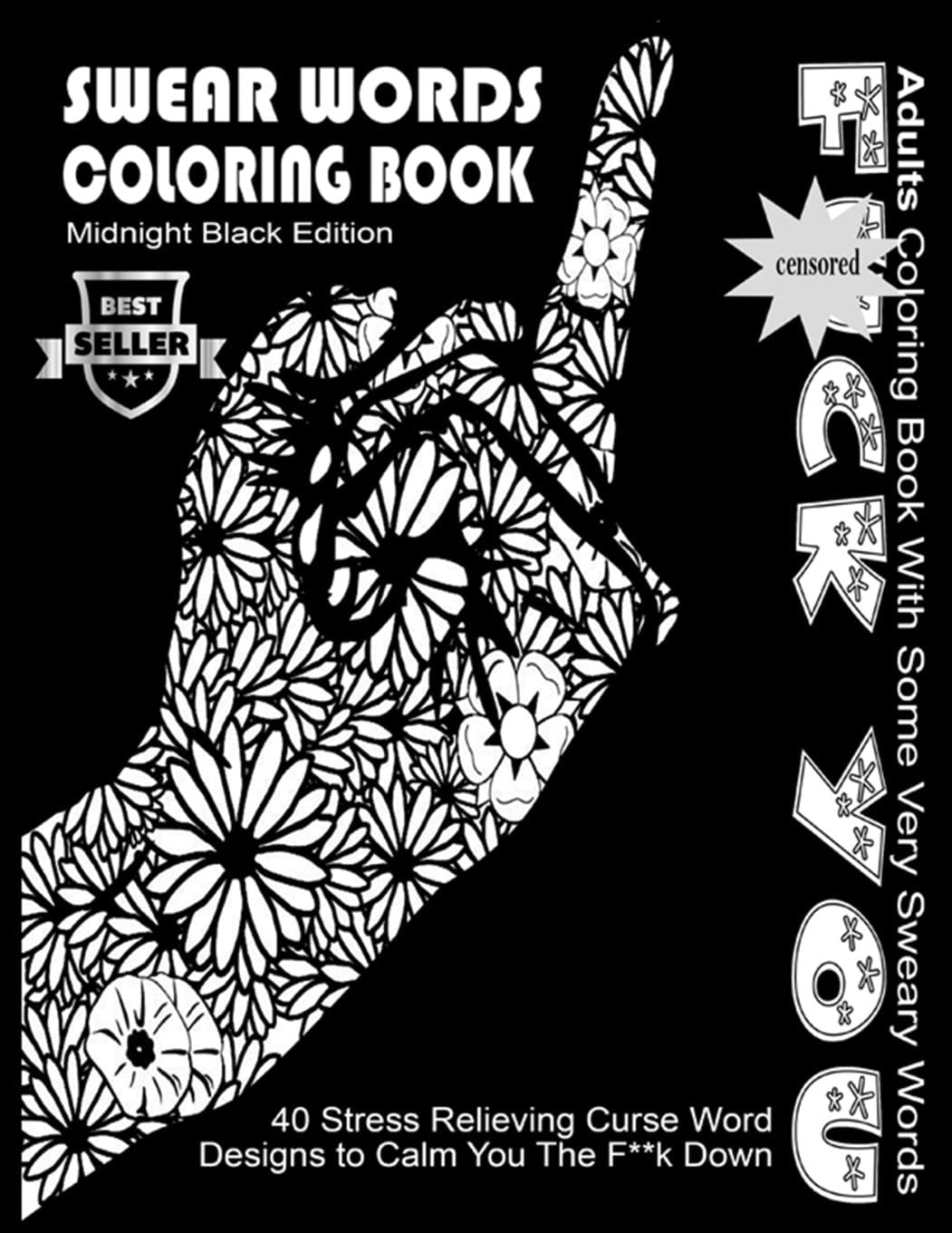 Coloring Books 71fysbznp6l Amazon Com Swear Word Book Midnight