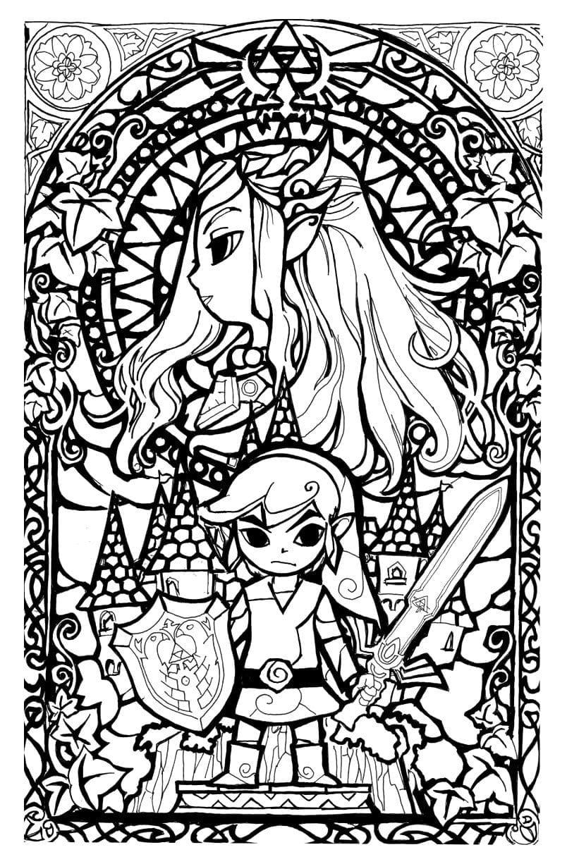Legend Of Zelda Stainglass Style