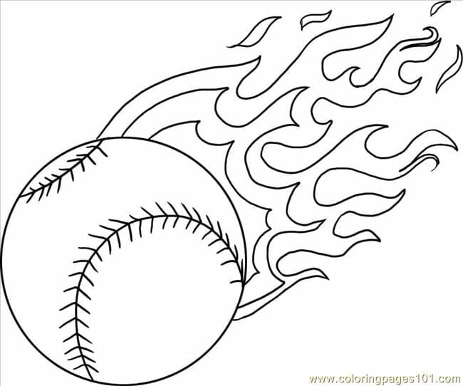 Coloring Pages Baseball  1840