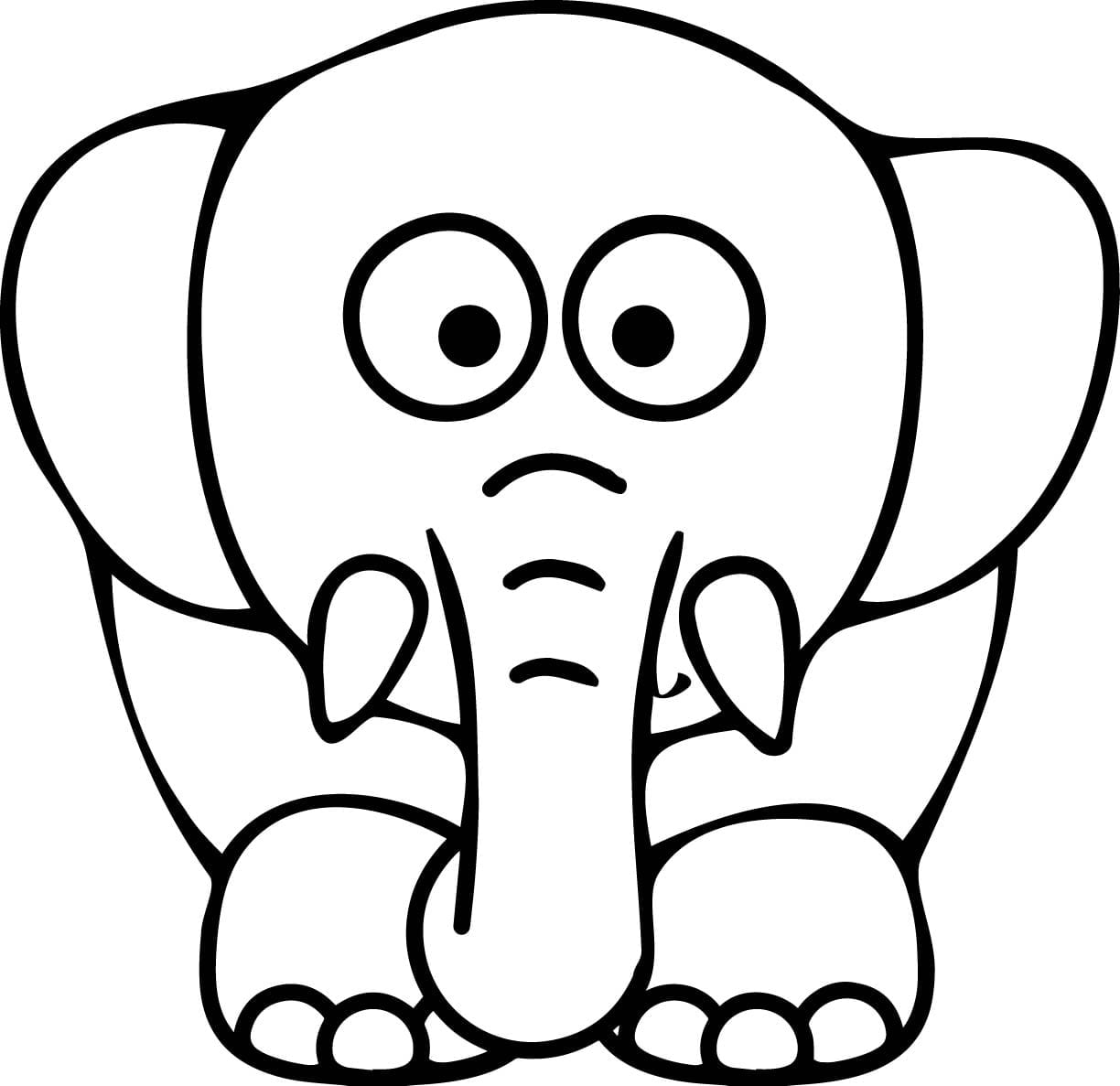 Coloring Pages Coloring Page Elephant New Year Color Pages