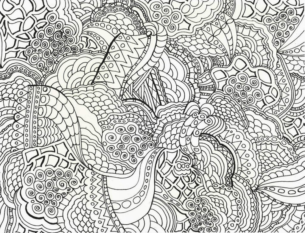 Coloring Pages Complex Abstract Printable To Funny Difficult